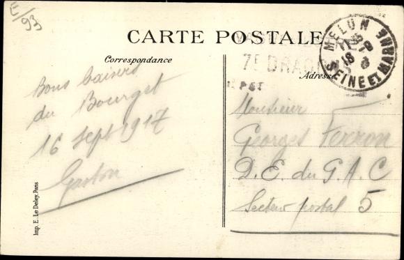Ak Le Bourget Seine Saint Denis, La Ferme ayant subi le Premier choc de l'Armee Allemande en 1870 1
