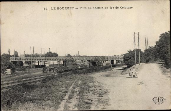 Ak Le Bourget Seine Saint Denis, Pont du Chemin de Fer de Ceinture 0