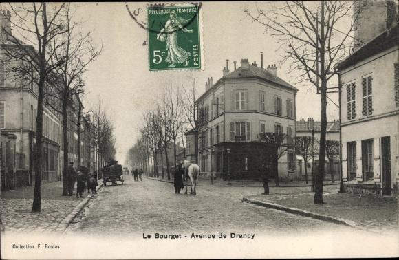 Ak Le Bourget Seine Saint Denis, Avenue de Drancy 0