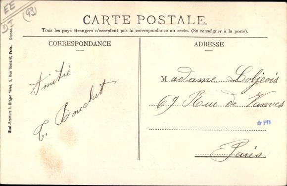 Ak Le Bourget Seine Saint Denis, Avenue de Drancy 1