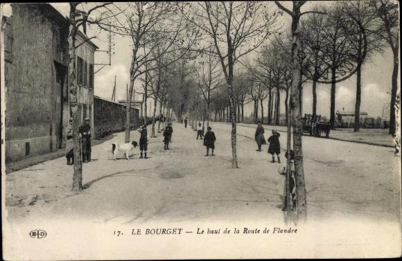 Ak Le Bourget Seine Saint Denis, Le haut de la Route de Flandre 0