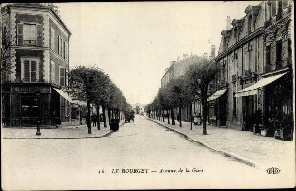 Ak Le Bourget Seine Saint Denis, Avenue de la Gare 0
