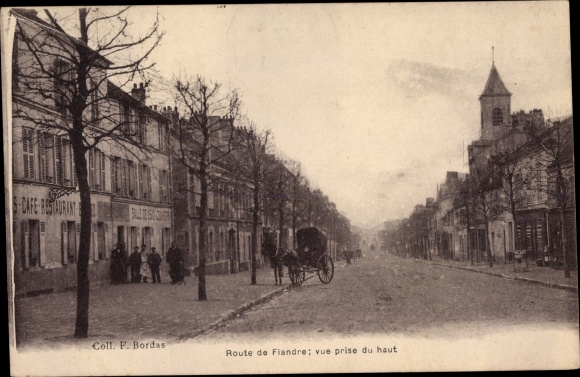 Ak Le Bourget Seine Saint Denis, Route de Flandre 0