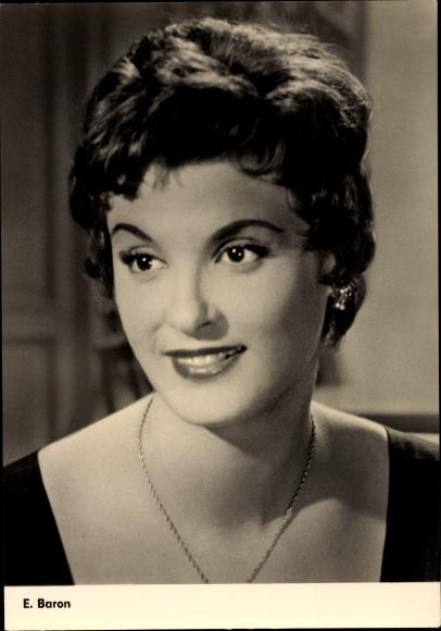 Ak Schauspielerin E. Baron 0