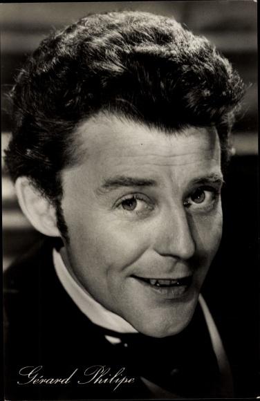 Ak Schauspieler Gerard Philipe, Portrait, Der schöne Octave 0