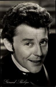 Ak Schauspieler Gerard Philipe, Portrait, Der schöne Octave