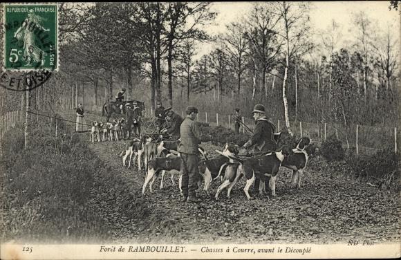 Ak Rambouillet Yvelines, Chasses a Courre, avant le Decouple 0