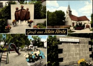 Ak Klein Förste Harsum in Niedersachsen, Spielplatz, Kirche, Denkmal