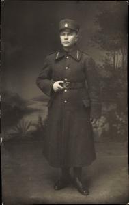 Foto Ak Soldat in Uniform, Mantel