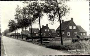 Ak Kloosterburen Groningen Niederlande, Kruisweg, Hogeweg
