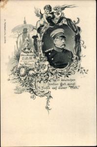 Passepartout Ak Fürst Otto von Bismarck, Portrait, Engel