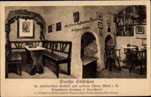 Ak Adorf im Vogtland, Goethe Stübchen im althistorischen Gasthof zum goldenen Löwen