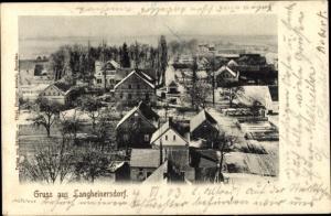 Ak Langheinersdorf Kreis Sprottau Schlesien, Totalansicht der Ortschaft