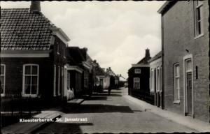 Ak Kloosterburen Groningen Niederlande, St. Jansstraat