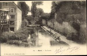 Ak Moret-sur-Loing Seine et Marne, Le Lavoir