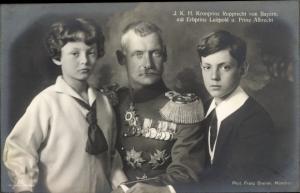 Ak Kronprinz Rupprecht von Bayern, Erbprinz Luitpold und Prinz Albrecht