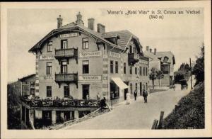 Ak St Corona am Wechsel in Niederösterreich, Werner's Hotel