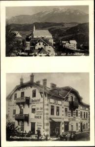 Foto Ak St Corona am Wechsel in Niederösterreich, Schneeberg, Kaffeerestaurant