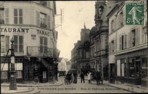 Ak Fontenay aux Roses Hauts de Seine, Rue et Chateau Boucicaut