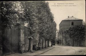 Ak Fontenay aux Roses Hauts de Seine, L'Ecole Normale et l'Asile Ledru Rollin