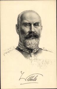 Künstler Ak Wilhelm II. von Württemberg, Stengel 49163