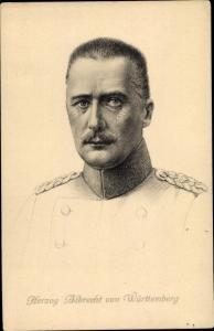 Künstler Ak Herzog Albrecht von Württemberg, Stengel 49132