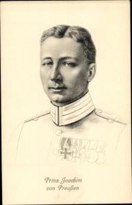 Künstler Ak Prinz Joachim von Preußen, Stengel 49145