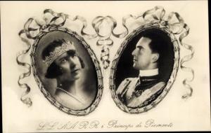 Ak König Umberto II. von Italien, Maria di Savoia, Principi di Piemonte