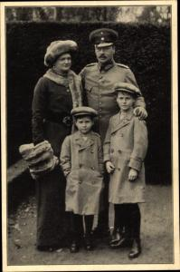 Ak Ernst Ludwig Großherzog von Hessen und bei Rhein mit Familie