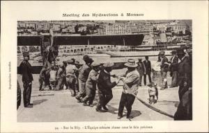 Ak Monaco, Meeting des Hydravions, L'Equipe robuste ahane sous le faix precieux, Wasserflugzeug