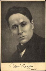 Ak Französischer Schriftsteller Roland Dorgeles, Männerportrait, 1929