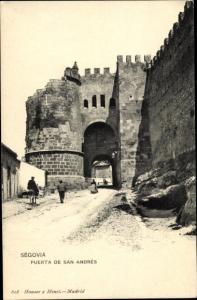 Ak Segovia Kastilien und Leon, Puerta de San Andres
