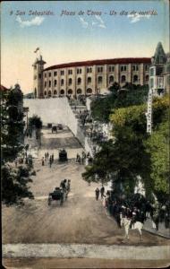 Ak San Sebastian Baskenland, Plaza de Toros, Un dfa de corrida