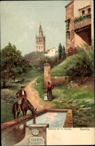 Ak Sevilla Andalusien Spanien, Camino de la Huerta, Stengel 29554