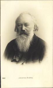 Künstler Ak Komponist Johannes Brahms