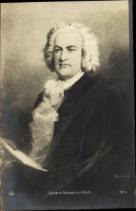 Künstler Ak Rumpf, Komponist Johann Sebastian Bach