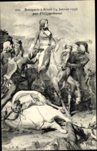 Künstler Ak Philippoteaux, Napoleon Bonaparte, Kaiser Napoleon I., Rivoli