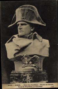 Ak Paris, Hotel des Invalides, Musee de l'Armee, Buste de Napoleon Bonaparte, Kaiser Napoleon I.