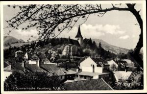 Ak Kaumberg in Niederösterreich, Sommerfrische, Stadtansicht, Gasthof Zum schwarzen Bären