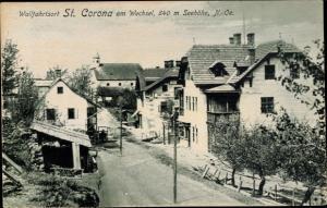 Ak St Corona am Wechsel in Niederösterreich, Dorfpartie