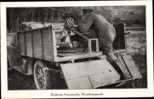 Ak Erobertes französisches Maschinengewehr, Soldat