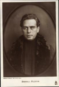 Ak Schauspieler Bernd Aldor