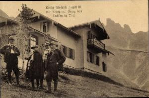 Ak Tirol, König Friedrich August III. von Sachsen, Kronprinz Georg