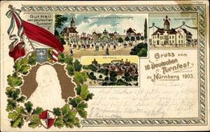 Präge Litho Nürnberg in Mittelfranken, 10. Deutsches Turnfest 1903, Turnvater Jahn, Verwaltung