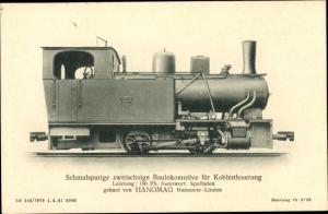 Ak Schmalspurige zweiachsige Baulokomotive für Kohlenfeuerung, HANOMAG Hannover Linden, Spulfaden