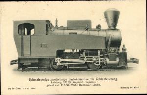 Ak Schmalspurige zweiachsige Baulokomotive für Kohlenfeuerung, HANOMAG Hannover Linden, Squalore