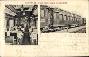 Ak Deutsche Eisenbahn Speisewagen Gesellschaft, Innenansicht