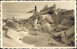 Ak Kappeln an der Schlei, Lotseninsel Schleimünde, Leuchtturm