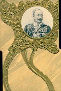 Präge Passepartout Ak Kaiser Wilhelm II.
