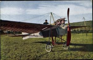 Ak Flugzeug Rumpler Taube, Pilot Hirth, Sieger im Flug Berlin Wien